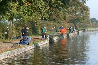 Anglers enjoying the canal